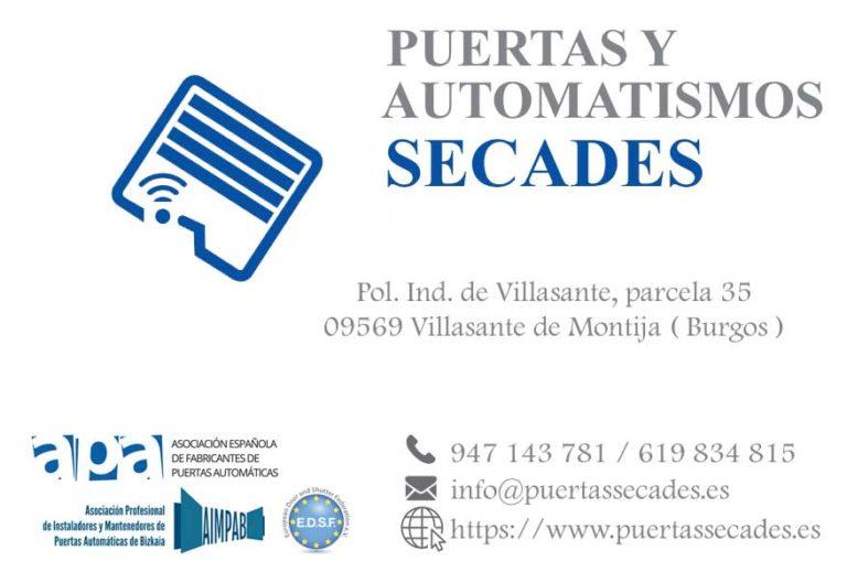 Puertas y Automatismos Secades Burgos